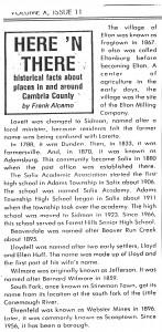 Cambria County Village Histories