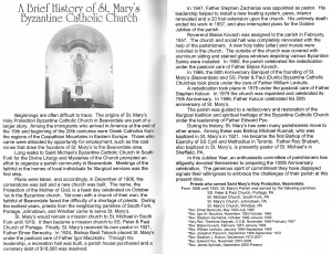 St. Marys Church History