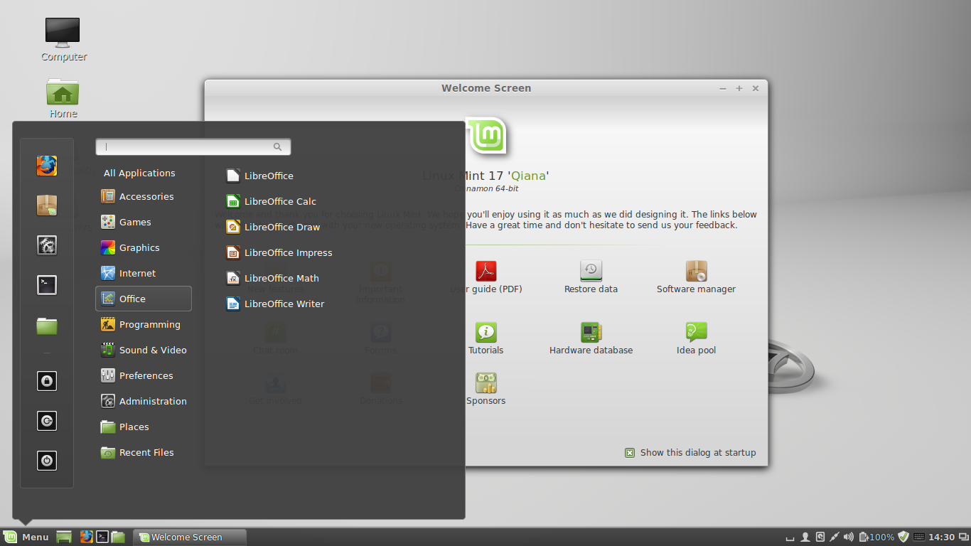 Linux mint choosing the right os walterhutskyjr linuxmint17qianacinnamon malvernweather Gallery