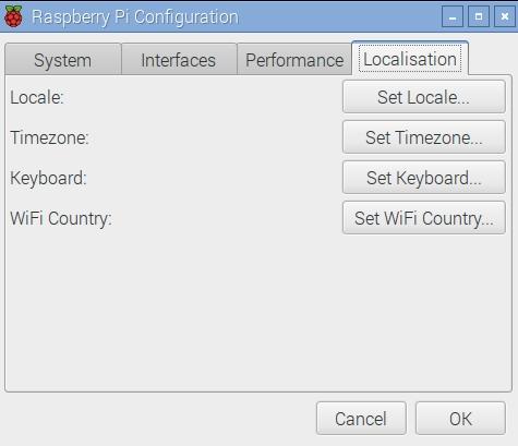 Pi - Localization Setup