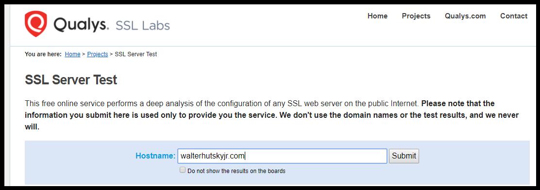 Ssl Website Security For All Walterhutskyjr